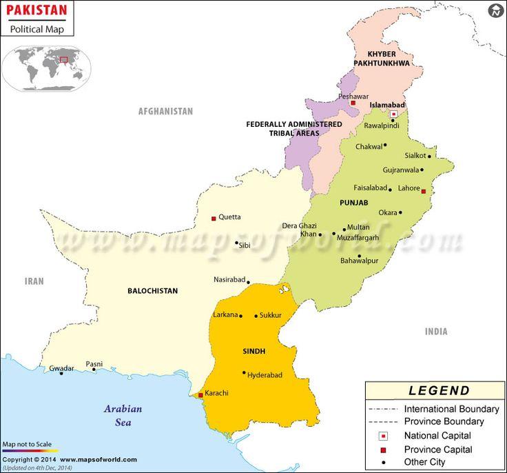 Political #Map of #Pakistan.