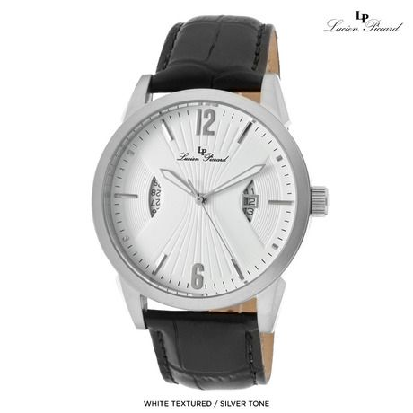 Lucien Piccard Men's Watzmann Genuine Leather Watch - Assorted Colors