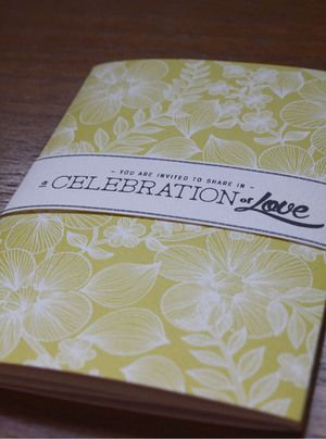 Beautiful, personalised wedding invitation books.