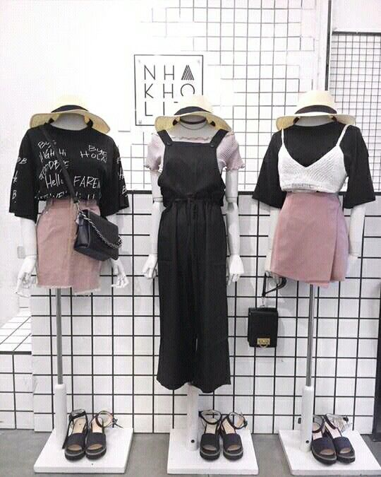 Milenial pink and black