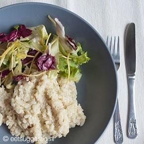 Een veganistische risotto om van te smullen! Vooral lekker in de zomer :-).