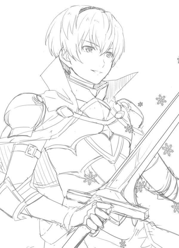 Fire Emblem Coloring Pages Sketch Coloring Page