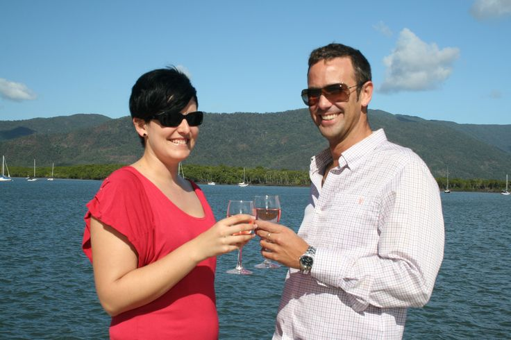 Picture yourself drinking sparkling wine on deck while watching the tropical sunset from Trinity Inlet. Call Us 1300 731 620 or visit http://www.fnqapartments.com/tour-sunset-cruise-cairns/area-cairns/  #SunsetCruise #cairns #CairnsTour