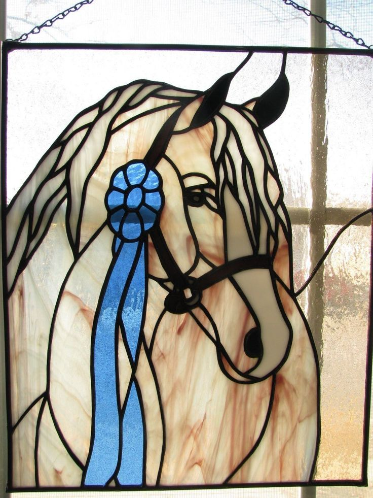 Stained Glass Arabian Horse for Window | eBay