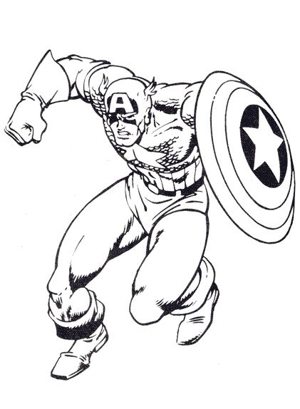 10 amazing captain america coloring pages for your little on - Captain America Pictures To Color