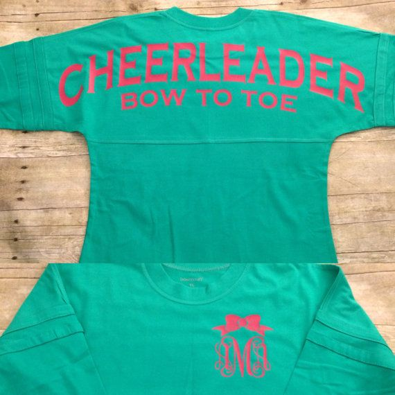 Cheerleader cheer jersey pom pom pullover monogram by OldTrace