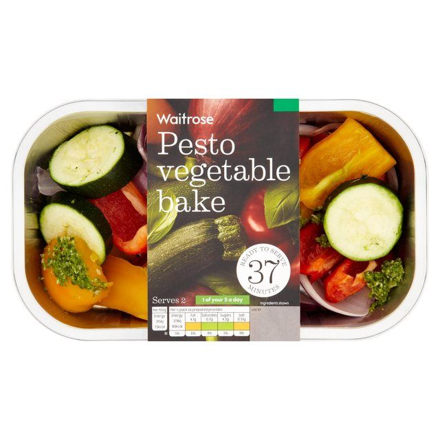 Pesto Vegetable Bake Waitrose 330g from Ocado