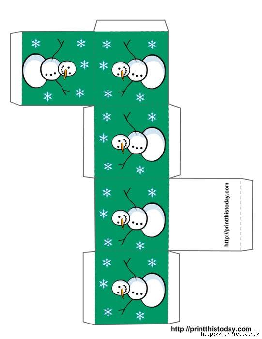 Новогодние коробочки. Шаблоны для распечатки (10) (541x700, 107Kb)