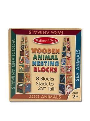 25% OFF Melissa & Doug Wooden Animal Nesting Blocks