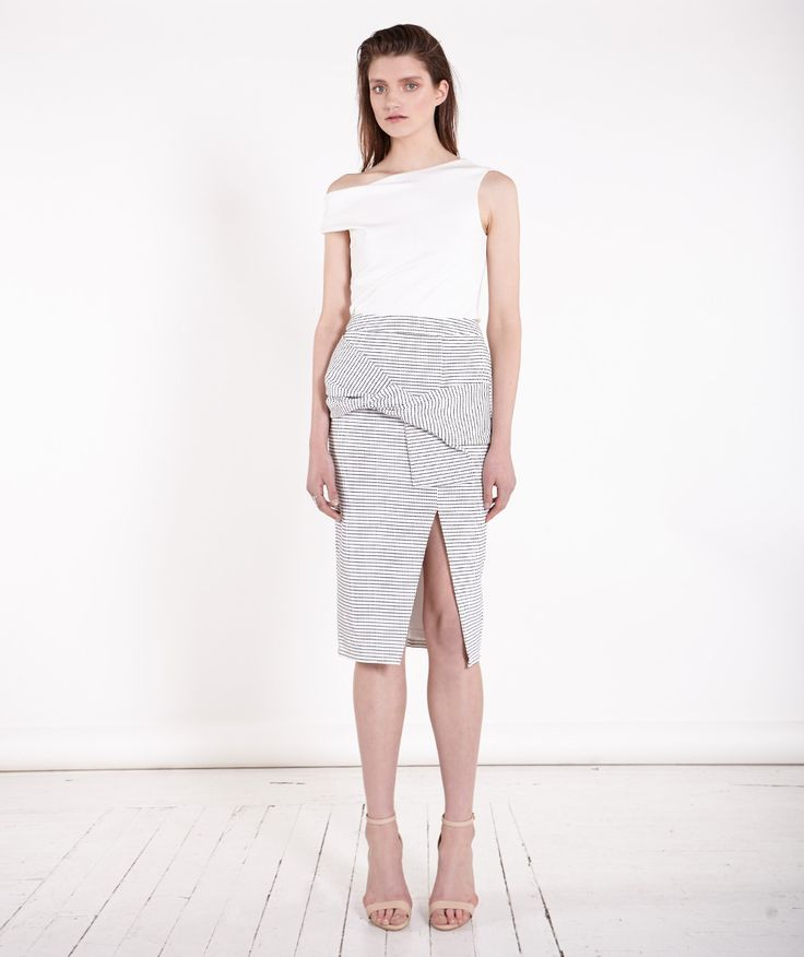 Friend of Audrey  - Twist Bow Polkadot Skirt