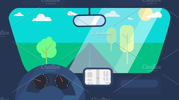 Driving On Car Animation by barsrsind on @creativemarket