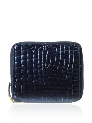 66% OFF AEON Women's Small Zip Wallet, Blue Metallic Croc
