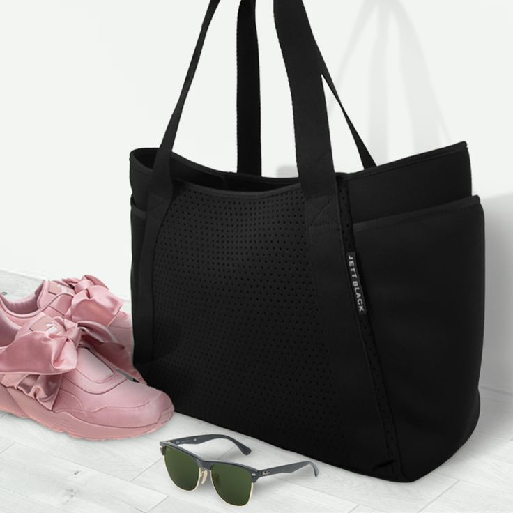 Jett Fuel Tote by Jett Black___Ideal for travel, gym, beach, baby, cafe, shopping_every day use.#Jetsetter #ToteBag #CarryAll #AllBlackEverything