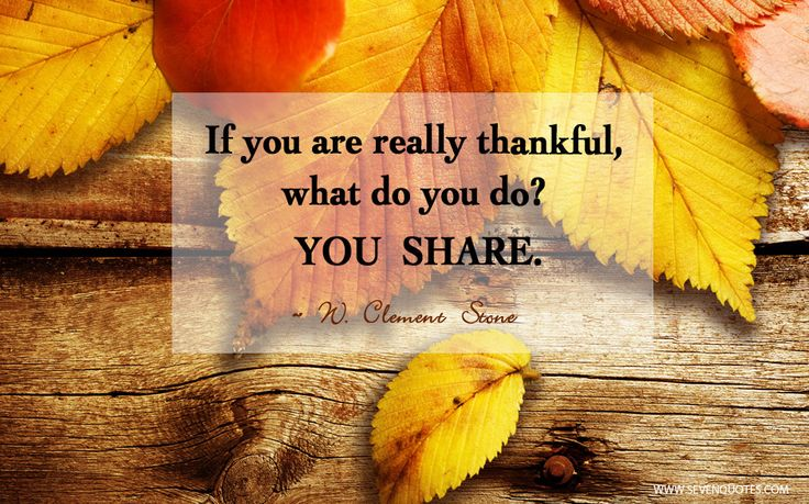 We love this quote because sharing is truly caring. If you are really thankful... #shareyourpassion. #Thanksgiving #Quote #ThanksgivingQuote
