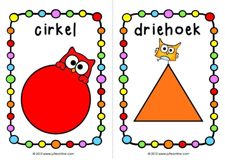 Vormen en kleuren oefenen: 1. Ik heb, wie heeft? 2. Kaarten voor in de kring of aan de muur