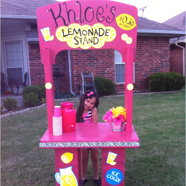 49 best lemonade stand images on pinterest summer for Cool lemonade stand ideas