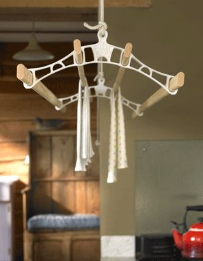 Pulleymaid™ Ceiling Clothes Airers   Wooden Drying Rack   Kitchen Clothes Airer Dryer