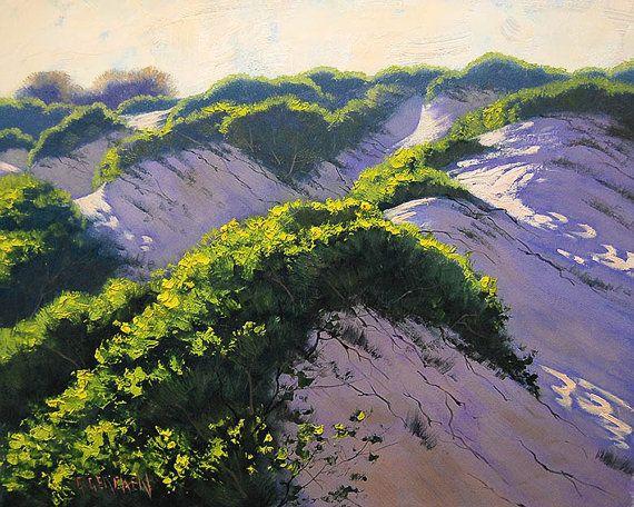 пляж маслом дюна картину пляж пейзаж традиционный Произведение Грэма Gercken