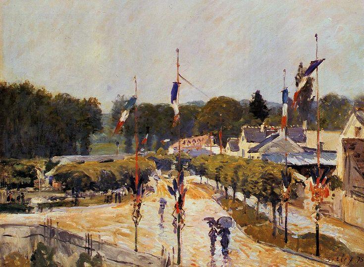 Alfred Sisley - Jour de fête à Marly-le-Roi