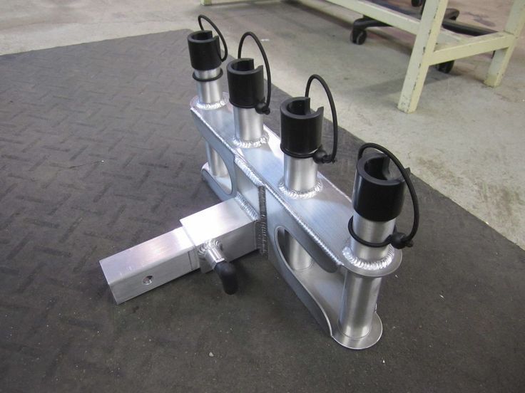 Aluminum Trailer Hitch Mounted Fishing Rod Holder For