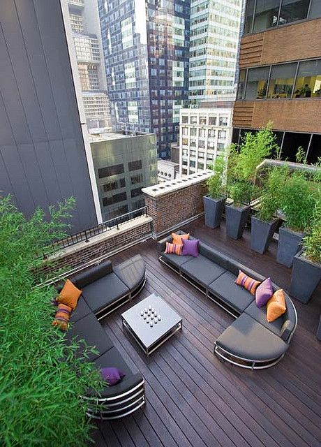 roof top garden, New York