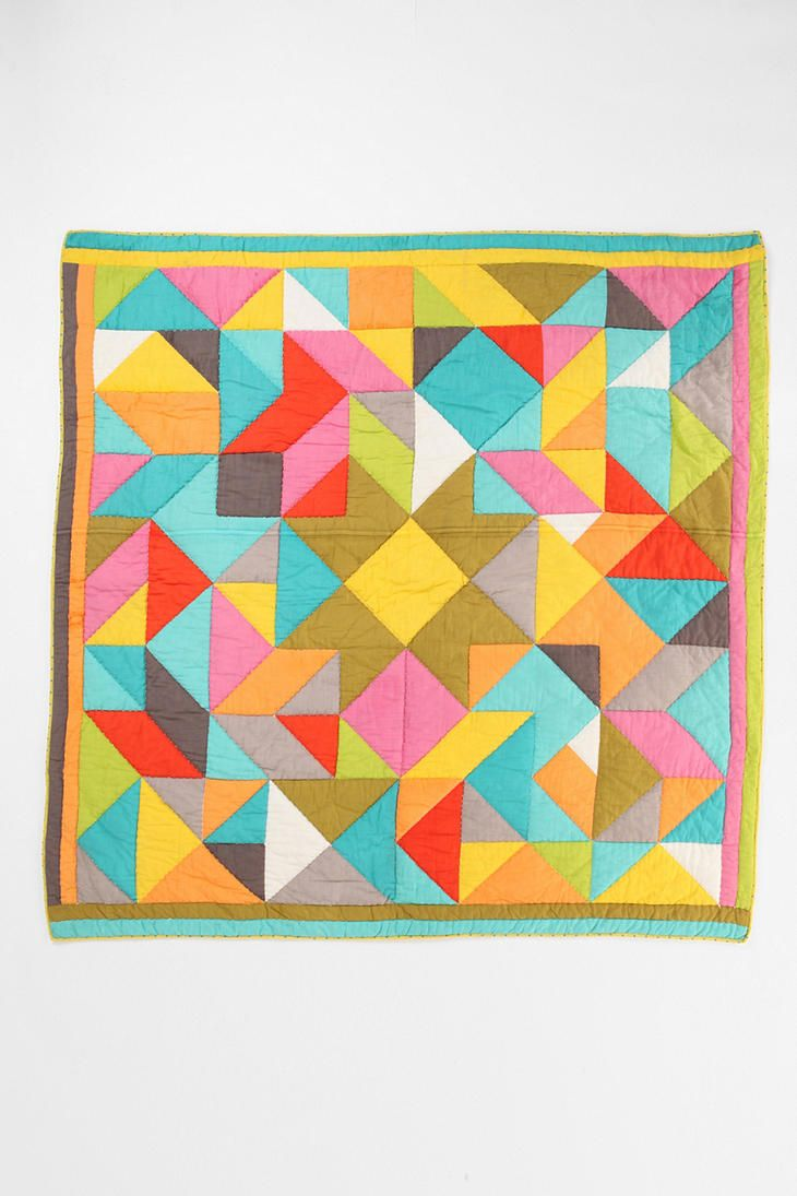 Urban Outfitters - Beci Orpin Geo Patchwork Quilt