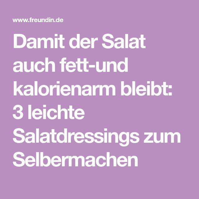 Damit der Salat auch fett-und kalorienarm bleibt: 3 leichte Salatdressings zum Selbermachen