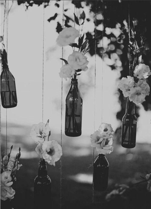 tranquilityIdeas, Trees, Flower Vases, Beer Bottles, Wine Bottle, Old Bottle, Hanging Flower, Beerbottle, Winebottle