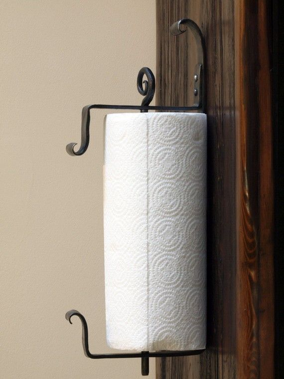 Wall Mounted Iron Paper Towel Holder Hand Forged By A Blacksmith Kitchen Ideas Pinterest Blacksmithing And