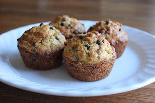 Oatmeal Chocolate Chip Muffins from Money Saving Mom - they were super quick and easy to throw together.  Good thing too 'cause this mama had no idea what to make for breakfast this morning!