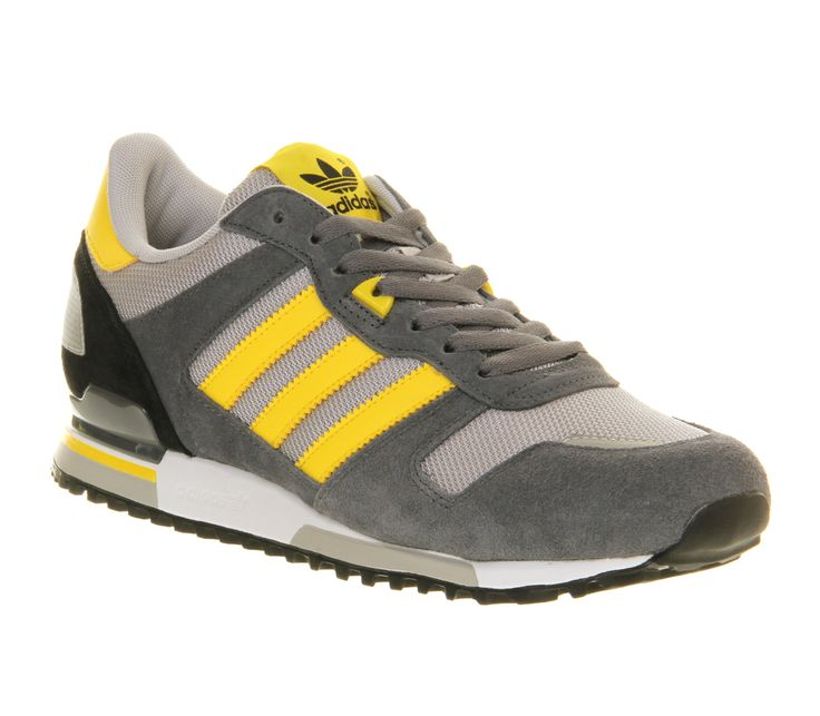 Adidas Zx700 Light Onyx Sun Lead - Unisex Sports.  Grey and yellow will always be a fit combination.  A x
