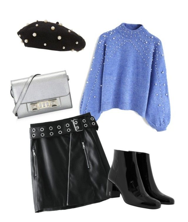 """""""Pearls everywhere"""" by clarisa-pop on Polyvore featuring Chicwish, Yves Saint Laurent, Proenza Schouler and Topshop"""