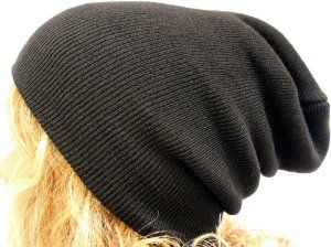 Amazon.com: Slouch Beanie Slouchy Hat Ribbed Skull Cap Ski Snowboard Hat Black: Clothing