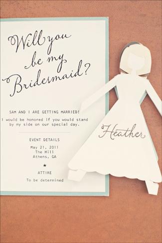 Will you be my bridesmaid card: Bridesmaid Cards, Wedding Ideas, Cute Ideas, Bridesmaids Invitations, Be My Bridesmaid, Bridesmaid Idea, Bridesmaid Invitations, Paper Doll
