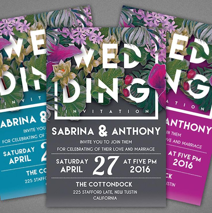 Floral Wedding Invitation Template 16 best for
