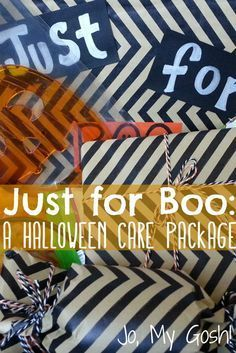 Halloween care package-- cute with chevrons!