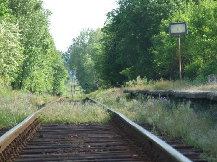 Railway stop Hatě- vies in direktion to Ledečko (central Bohemia)