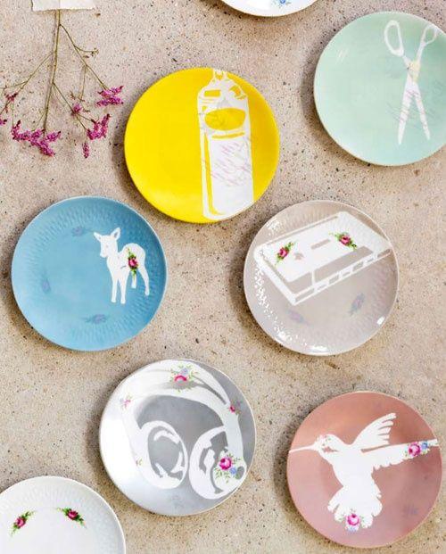 , Tags Bastelideen, DIY, Kreatives, Porzellan, Vintage, Wandschmuck, Wandteller, Weihnachtsgeschenke Basteln, Dekoideen