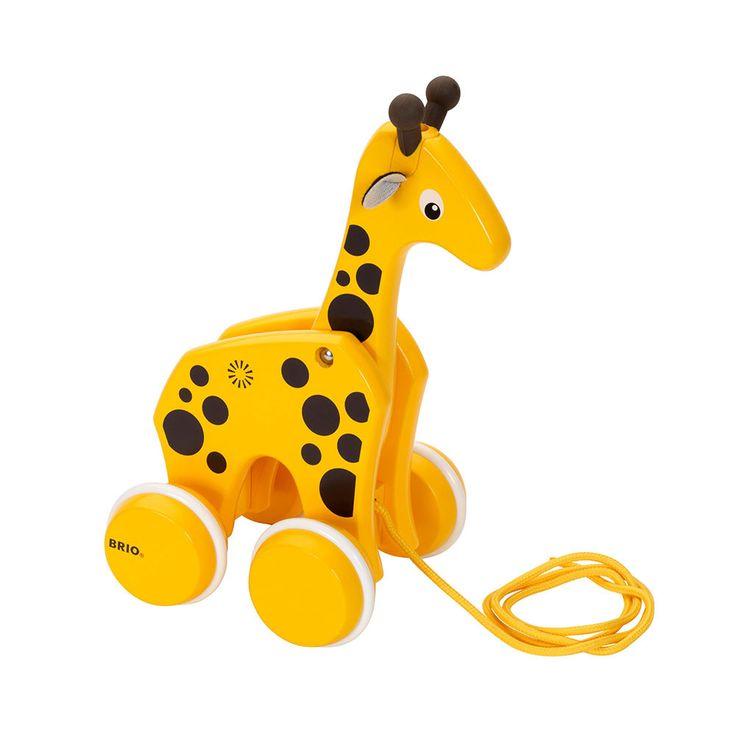 BRIO - Toddler Wooden Pull-A-Long Giraffe