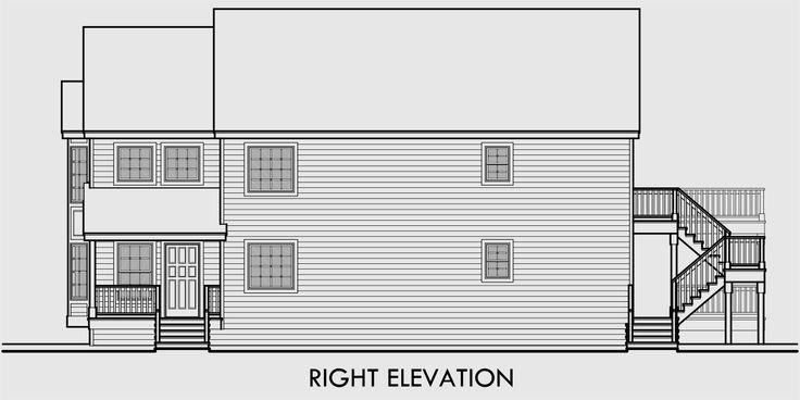 25 best ideas about duplex house on pinterest duplex for Stacked duplex floor plans