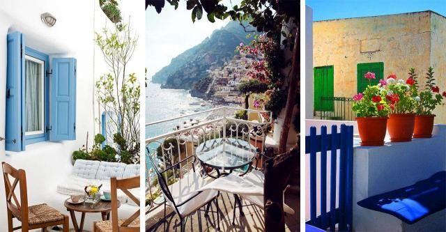 9 robiących wrażenie balkonów w stylu greckim. Poczujesz się jak bogini!