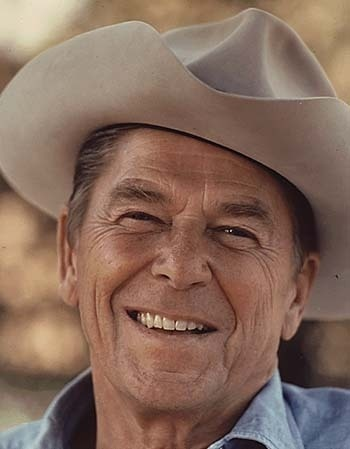 Ronald Reagan, the 40th U.S. President (1981-1989), born on Feb. 5, 1911. He passed away on June 5, 2004.