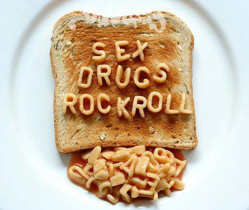 Sex, drugs & Rock´n Roll: Iphone Wallpapers, Spaghetti, Breakfast, Sex Drugs, Rocks N Rolls, Rocks Rolls, Rocks And Rolls, Alphabet Soups, Food Art