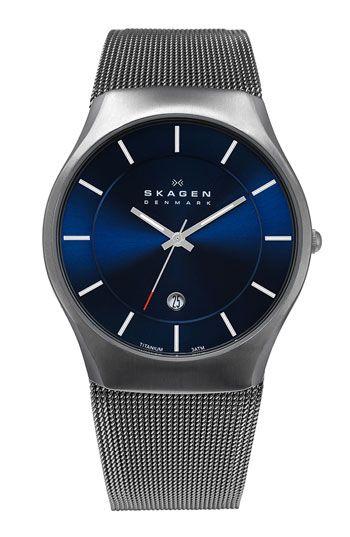 Skagen Titanium Mesh Strap Watch available at #Nordstrom