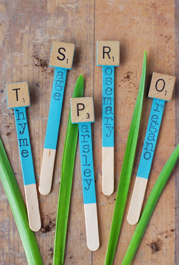 25 best ideas about vegetable garden markers on pinterest for Markers for wood crafts
