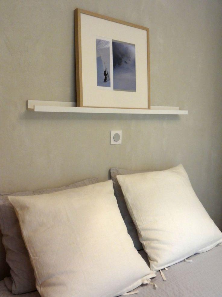 tete de lit enduit coussin ikea deco chambre pinterest. Black Bedroom Furniture Sets. Home Design Ideas
