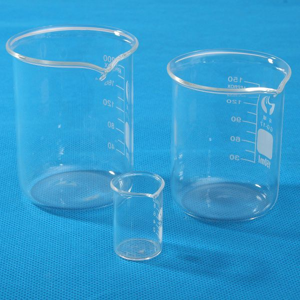 10ml 150ml 200ml Glass Lab Beaker Low Form Chemical Laboratory Equipment Laboratory Equipment Beaker Office And School Supplies