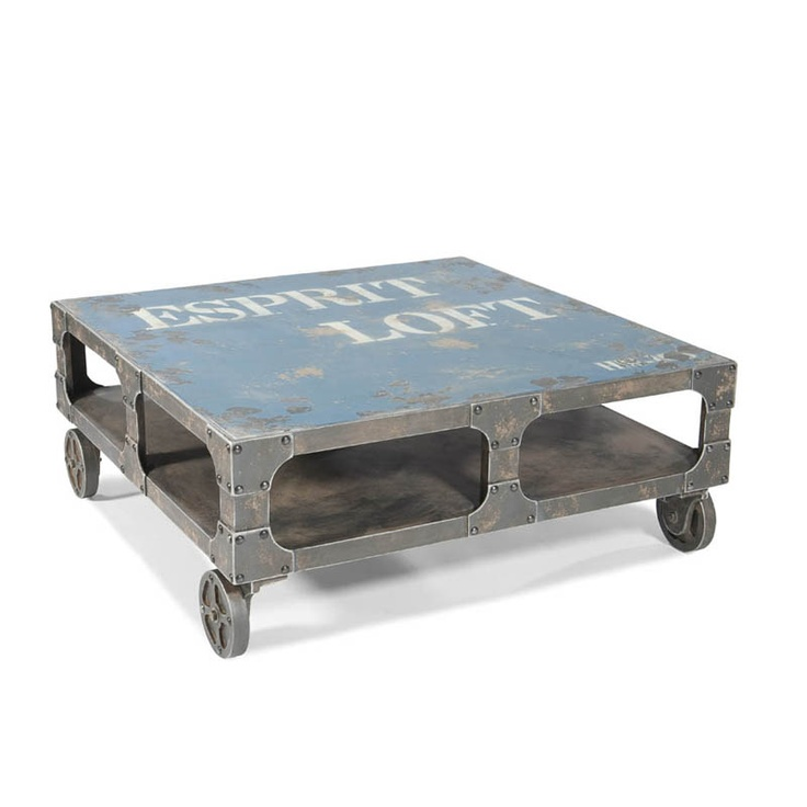 Industrial table ~ cool stenciling