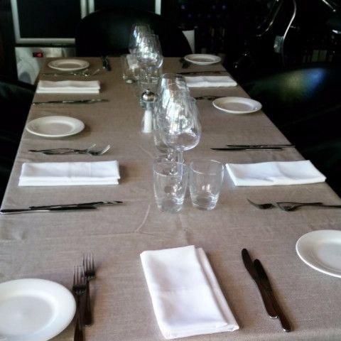 Boheme Taupe plain linen colour tablecloth that is both stylish and fashionable and would suit all occasions. Treated with Teflon DuPont for stain resistance.