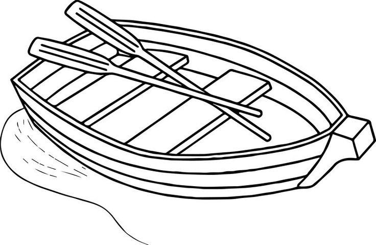 Any Boat Free Coloring Page สม ดระบายส การ ต น ก จกรรมการเร ยน